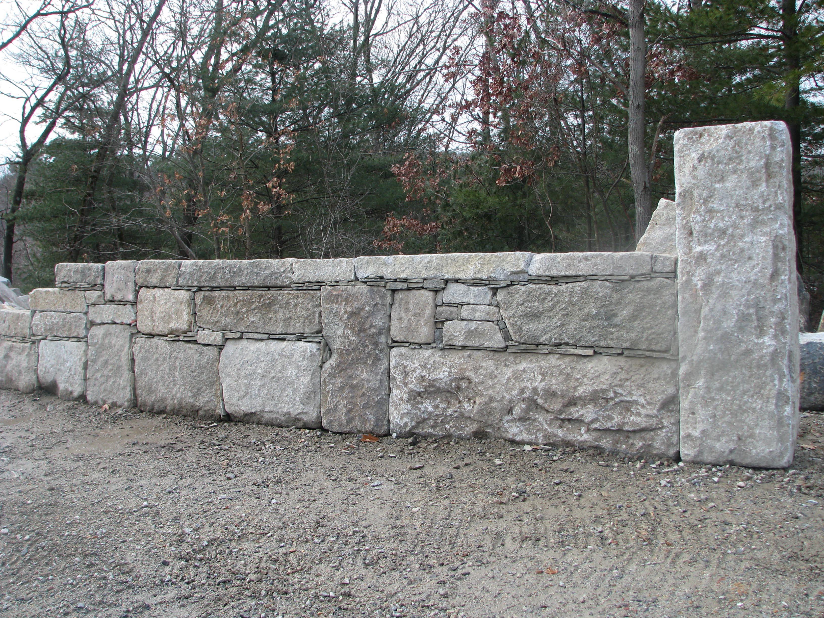 Granite Block Seawall : The reed corporation
